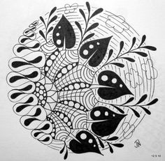 No Matter Where I go...I ALWAYS Meet Myself There!: Zentangles and Doodles