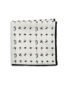 Black Brown 1826 Silk Bow Tie Pocket Square Men's White