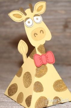 Stampin' Up! Playful Pals Valentine's or Party Giraffe Treat Box