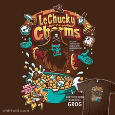 LeChucky Charms | Shirtoid #cereal #gaming #lechuck #luckycharms #monkeyisland #nemons #pirate #videogame