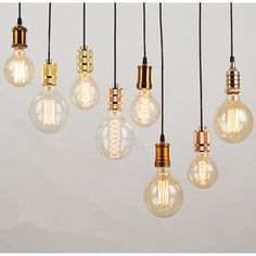 Contracted pendant lamp Hanging edison shell lamp holder 27/26 LED light The…