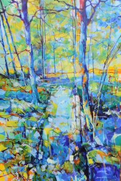 Blakeney Straits - Forest of Dean. Acrylic on canvas semi abstract painting 61 x 91cm. Ref: 014-023