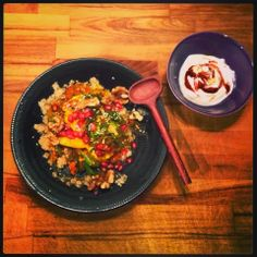 Mine matskriblerier: Marokkansk fisk med granateple og harissayoughurt