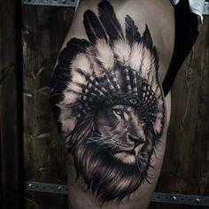 Löwen Tattoos in unserer Galerie der Woche Boy Tattoos, Time Tattoos, Tattoos For Guys, Sleeve Tattoos, Cool Back Tattoos, Tattos, Tattoo Now, Lion Tattoo, Tattoo Apprentice