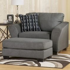Grabbing a big chair with ottoman to relax after a long day – Decorifusta