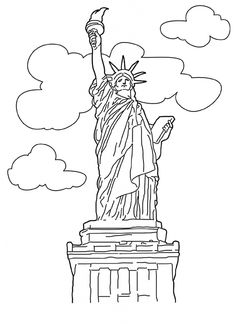 free statue of liberty coloring pages