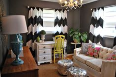 Love the grey with chevron.
