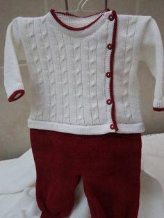Macacão em trico,com abertural lateral,casaco em tranças.Não acompanha o body,que pode ser adquirido separadamente.    Fio antialérgico  50% acrílico  50% algodão    Pode ser feito em outras cores.Não acompanha o body