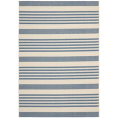 This stylish blue indoor outdoor rug makes an eye-catching addition to any outdoor area. Durably crafted and featuring a weather-resistant design, this rug provides a colorful highlight to complement the decor of your porch, patio or deck.