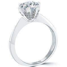 2.03 Carat G-SI2 Certified Natural Round Diamond Engagement Ring 18k White Gold - Thumbnail 2