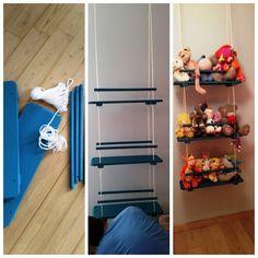 fabriquer un rangement peluches Storage Room, Toy Storage, Diy Rangement, Ideas Para Organizar, Baby Room, Ladder Decor, Playroom, Kids Room, Crafts For Kids