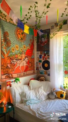 Indie Room Decor, Cute Bedroom Decor, Aesthetic Room Decor, Room Ideas Bedroom, Hippie Bedroom Decor, Bedroom Inspo, Chambre Indie, Hippy Room, Chill Room
