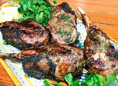 Agnello Scottadita means burned fingers but look at those chops! (grilled lamb chops)  posted on italianfoodforever.com