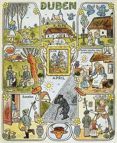 Typography Prints, Children's Book Illustration, Xmas Cards, Four Seasons, Childrens Books, Illustrators, Folk Art, Vintage World Maps, Calendar