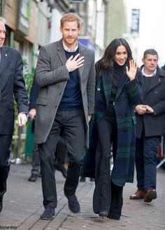On the eve of Valentine's Day, Prince Harry and Meghan Markle carried out their first official visit to Scotland, with several engagements i...