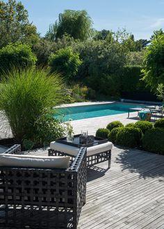 Underbart uterum med trädäck och pool | Sköna hem
