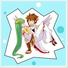Pit and Palutena.  SO CUTE!!! X3