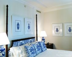 Chinoiserie Chic: The Pink Pagoda - Blue and White