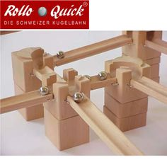 Rollo Quick Wooden Marble Run