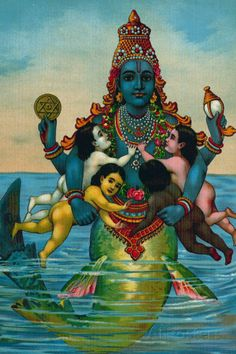 Matsya - Wikipedia Associated with Pisces, as the avatar (incarnation) Matsya of the Hindu God Vishnu as a fish Reiki Meditation, Tantra, Indian Gods, Indian Art, Avatar, Raja Ravi Varma, Kundalini, Illustration Photo, Inspiration Artistique