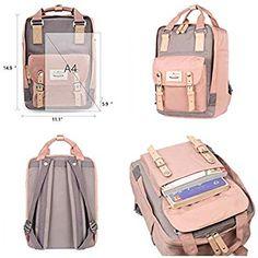 Himawari School Waterproof Backpack College Vintage Travel Bag for inch Laptop for Cute Backpacks For School, Cute Mini Backpacks, Girl Backpacks, Mochila Kanken, School Pencil Case, Cool School Supplies, Backpack Purse, Travel Backpack, Stationary School