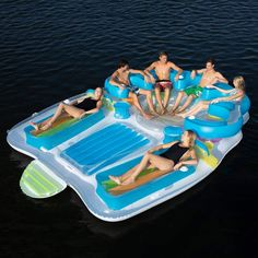 Too busy to plan a tropical island vacation? This giant pool float shaped like the island of Tahiti makes it so you don't have to — and it fits up to Giant Pool Floats, Cool Pool Floats, Pool Floats For Kids, My Pool, Swimming Pools Backyard, Summer Pool, Summer Fun, Inflatable Floating Island, Lake Floats