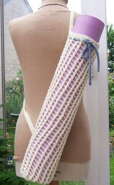 Handknitted Yoga Mat Bag Handknitted Accessories by evefashion, £15.00