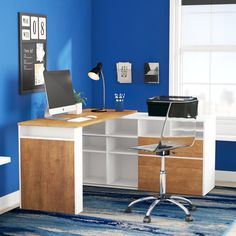 More people today than ever are starting home based businesses and as a result need the right home office furniture. Because a home office is different that the more traditional office setting, the furniture required is different. Adjustable Height Desk, Adjustable Shelving, Open Shelving, Shelves, Small Home Offices, Small Office, Corner Writing Desk, Traditional Office, Desk Inspiration