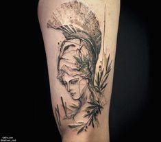 Tattooer Nadi   Seoul Korea CONCEPT : Athena, Greek goddess of reason, intelligence, arts and literature. naditat2@gmail.com