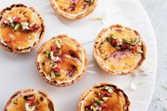 Crème brûlée gets a cheesecake twist with these delicious mini tarts. They're great for afternoon tea or dessert. Creme Brulee Cheesecake, Cheesecake Tarts, Cheesecake Recipes, Taste Au, Tart Taste, Just Desserts, Delicious Desserts, Dessert Recipes, Mini Desserts
