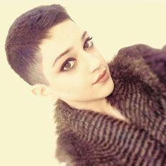 @meyraneh_ Very pretty!  #pixiecut #croppedhair #shavedpixie #shorthair