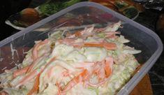 Kipróbált Coleslaw saláta recept egyenesen a Receptneked. Cabbage Salad, Cooking Recipes, Healthy Recipes, Hungarian Recipes, Coleslaw, Fresh Rolls, Potato Salad, Cake Recipes, Food And Drink