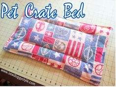 DIY Pet Crate Bed - simple and great project for shelters.  Always on the list of items shelters need.