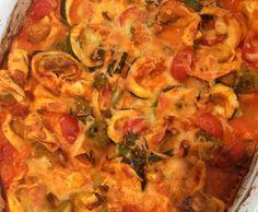Rezept Ofentortellini mit buntem Gemüse an Tomaten-Käsesoße (WW geeignet) von MissCandygirl - Rezept der Kategorie sonstige Hauptgerichte