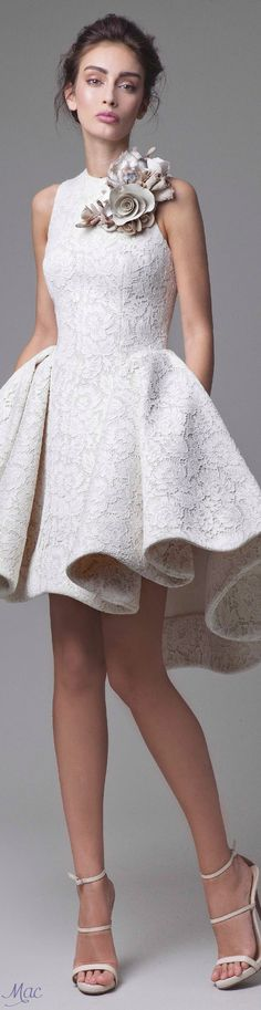 Spring 2016 Haute Couture Krikor Jabotian women fashion outfit clothing style apparel @roressclothes closet ideas