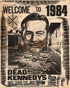 """Canvas Giclees & Fine Art Prints by Annex Reproduction Dead Kennedys Show Poster from New Years Show 1983/1984 with TSOL This is a gallery wrapped canvas print that comes on a 1.25"""" stretcher bar & is"""