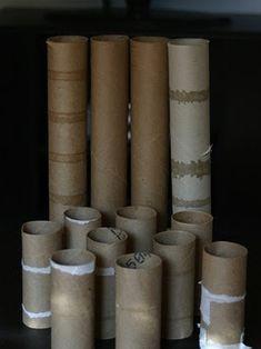 Декор из рулонов
