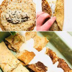 Κρέπες χωρίς γλουτένη & βίγκαν με μανιτάρια, σκέτη απόλαυση! – Gfhappy Gluten Free, Bread, Food, Chef Recipes, Cooking, Glutenfree, Brot, Essen, Sin Gluten