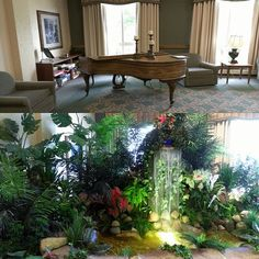 Before & After: Did you know water features can also be installed indoors?