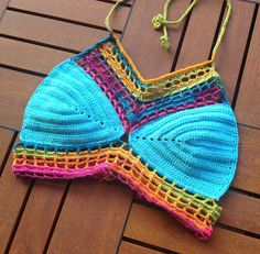 Crochet Halter Top Rainbow