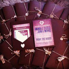 Home made wedding invitations