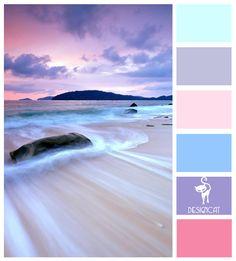 Candy Beach: Mint, Lavender, Pink, Teal, Purple, Cerise - Colour Inspiration Pallet