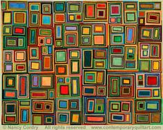 """Image of """"Color All Around"""" quilt by Nancy Cordry"""