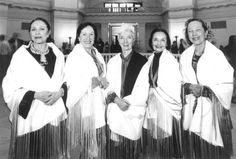 Indian ballerinas, from left, Maria Tallchief, Marjorie Tallchief, Rosella Hightower, Moscelyne Larkin and Yvonne Chouteau are shown at state Capitol.  Photos provided