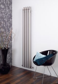 The Aeon Bamboo Stainless Steel Radiator is a fantastic design. It has stainless steel hollow bamboo shoots running the length. Stainless Steel Radiators, Stainless Steel Tubing, Brushed Stainless Steel, Wall Radiators, Vertical Radiators, Radiator Heater, Stainless Steel Grades, Bungalow Kitchen, Designer Radiator