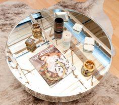 mirrored coffee table a la rachel zoe