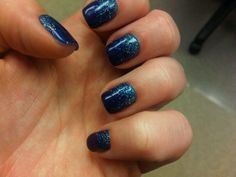 A classic. Snowfall at Midnight #OPI #Glitter #nails #winter #snow