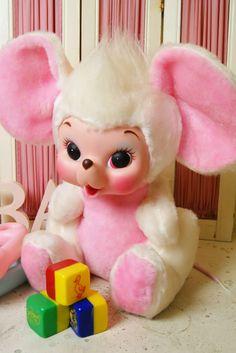画像1: 美品?☆Rushton/ラシュトン ビンテージラバーフェイスドール☆ハッピーマウス