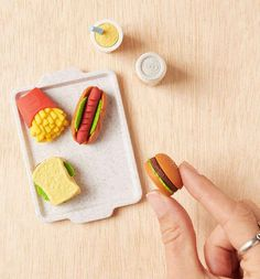 Erasers that *almost* look good enough to eat.
