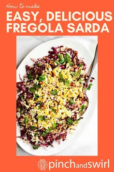 Of the Fregola Sarda recipes I've tried, this one is my favorite! A beautiful, versatile salad with raddicchio (or endive), hard boiled eggs, capers and a delightfully tangy, fresh lemon dressing. Vegetarian Salad Recipes, Easy Salads, Healthy Salad Recipes, Easy Summer Meals, Healthy Summer Recipes, Hard Boiled, Boiled Eggs, Healthy Fiber, Main Dish Salads